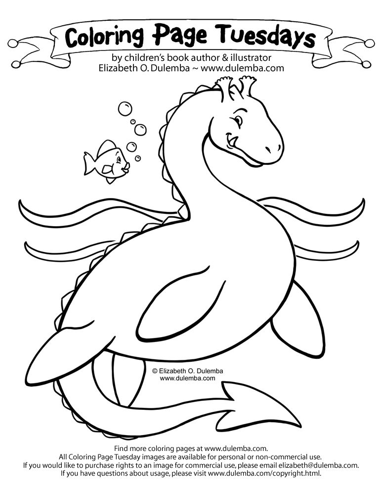 Dulemba Coloring Page Tuesday Sea Serpent With Images Sea