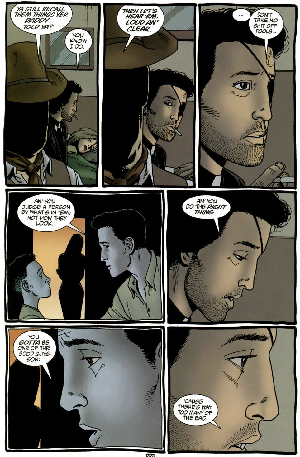 """the words of your father""  From Preacher dialogue by Garth Enniss art by Steve Dillon"