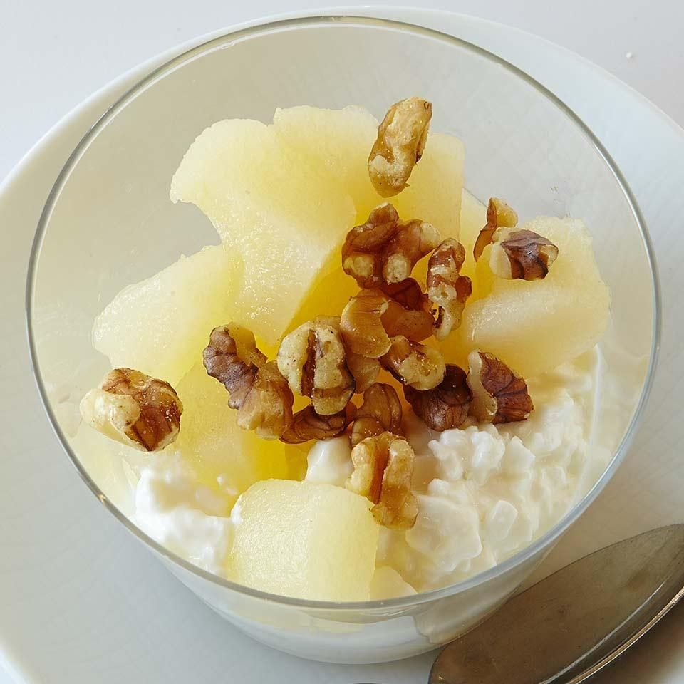 Cottage cheese pear parfait recipe cottage cheese pear and snacks sisterspd