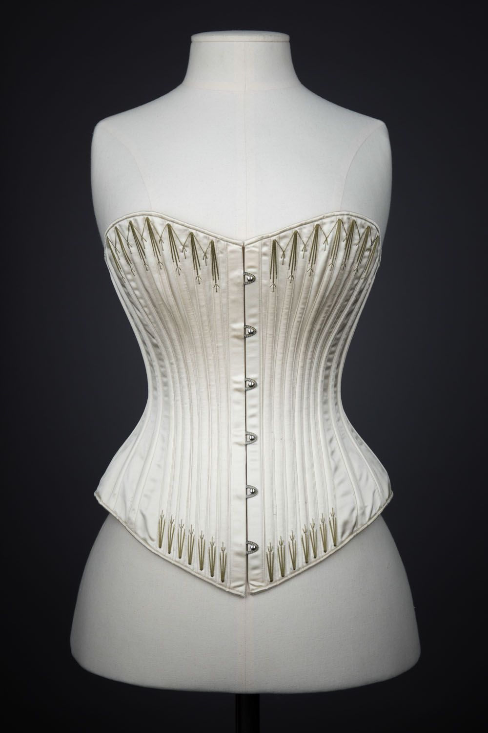 a948ae2fdda 1890s Symington Reproduction Silk Corset By Cathy Hay. The Underpinnings  Museum. Photography Tigz Rice