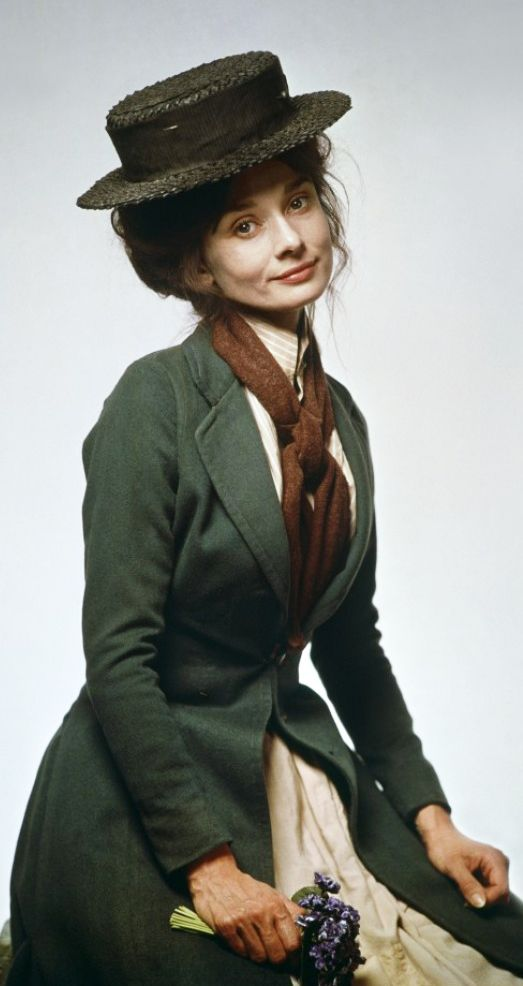Audrey Hepburn as Eliza Doolittle in 'My Fair Lady' (1964 ...