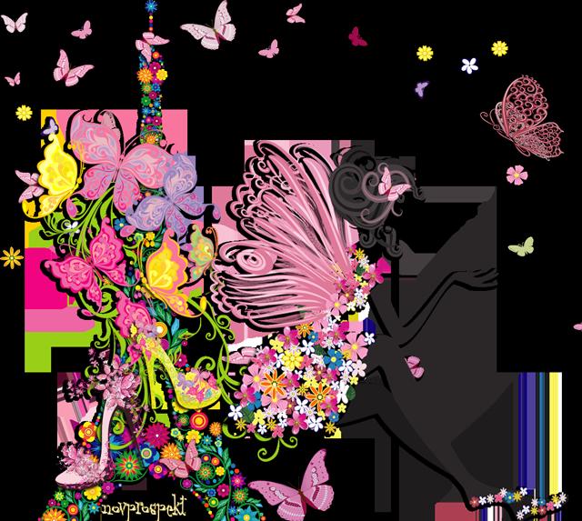Спасибо, картинки девушка цветы бабочки вектор