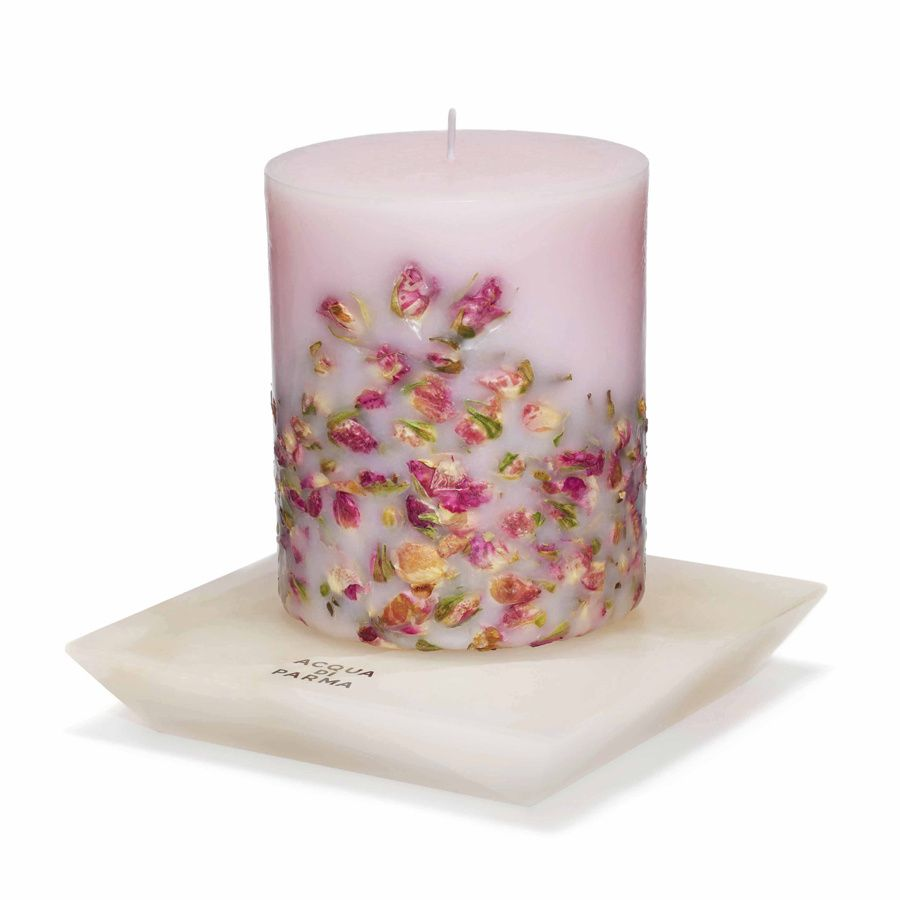 Shopping con ideas de regalos de Navidad para chicas clásicas: base de mármol para velas de Acqua Di Parma