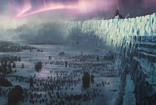 How the ice wall appears in Game Of Thrones.The colossal Game Of Thrones ice wall could become a permanent fixture in Northern Ireland.The 300-mile barrier defending the realm from Wildlings, White Walkers and giants in the popular fantasy series is actually a disused cement works (Magheramorne Quarry) in Co Antrim overlooking the Irish Sea.Now local councillors want HBO to leave the set behind once filming ends.