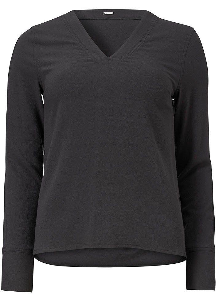 Bluse mørkegrå 22618 Stretch Top - 210 charcoal