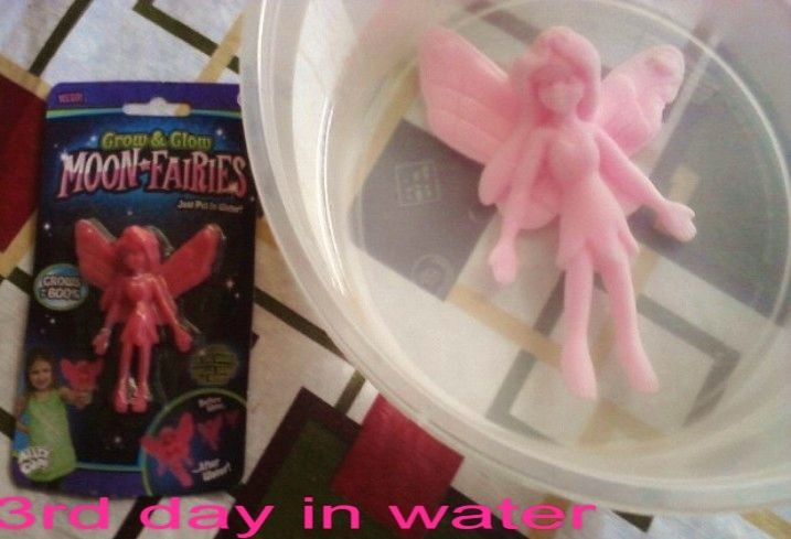 "Cool ""Grow and Glow in Dark Moon Fairies"", Toy, Grows up to 600% in water for 3 days,expanding"