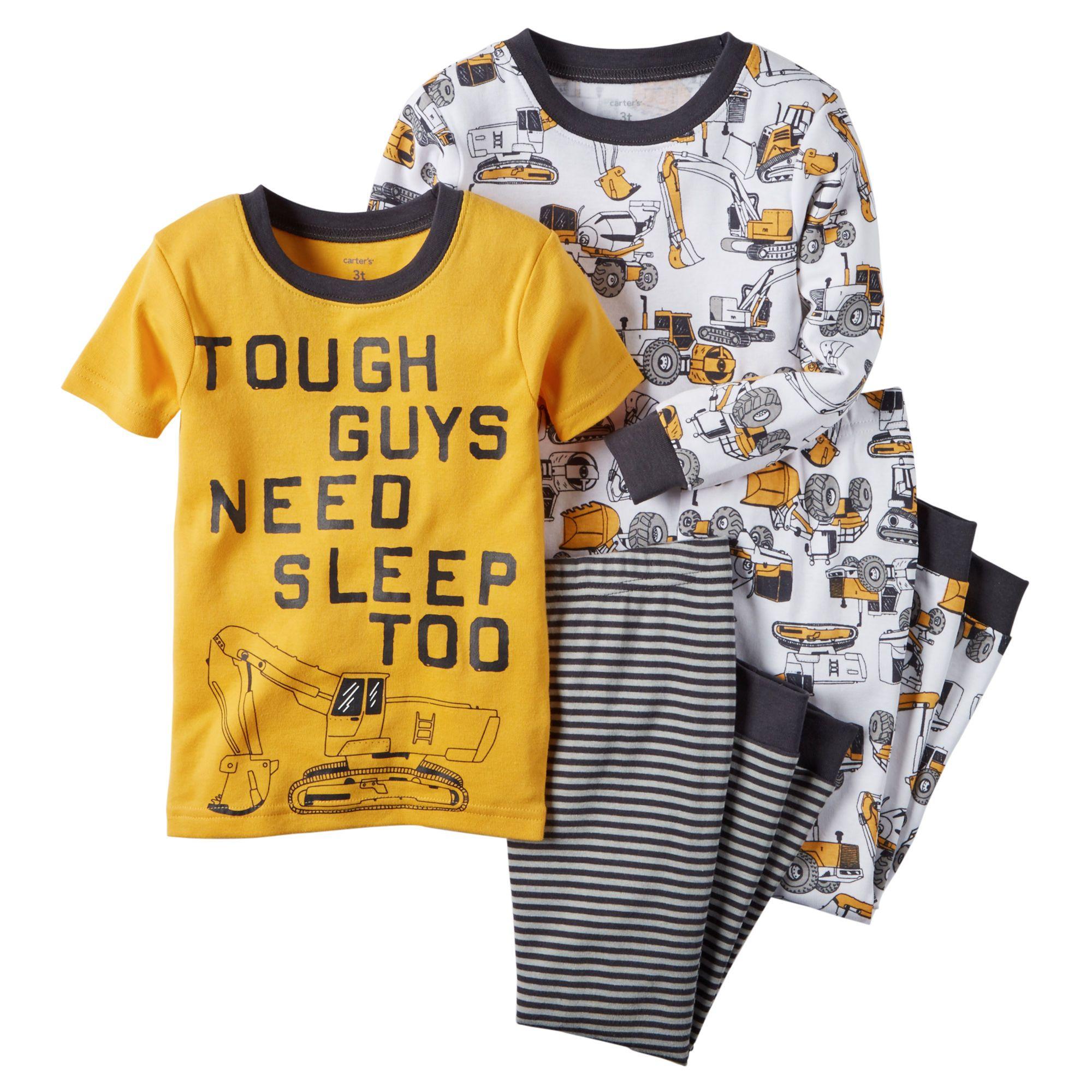 75d3d2d727e0 Toddler Boy 4-Piece Snug Fit Cotton PJs