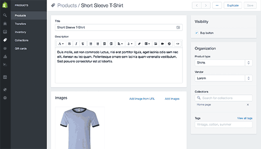 How To Start An Online Store In Step By Step Pinterest - Shopify product page template
