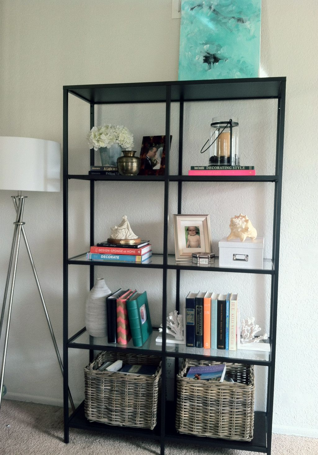 Ikea Vittsjo Bookcase In The Living Room