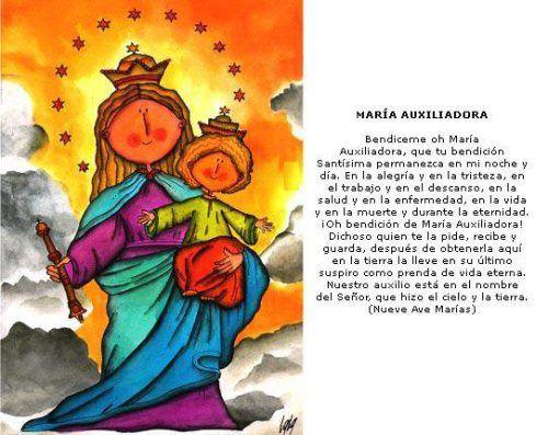 Bendicion De Maria Auxiliadora Maria Auxiliadora Virgen Maria