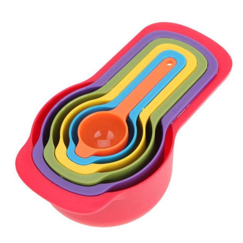 6Pcs kitchen Measuring Spoons Cups Baking Utensil Set Kit Measuring Tools Teaspoon Gram Scoop Household Kitchen accessories C3