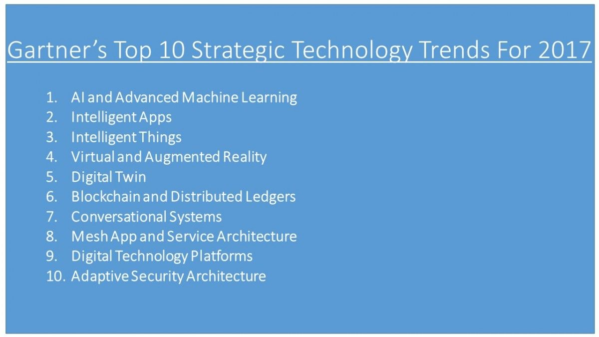 Understanding The Top 10 Technology Trends For 2017 Technology Trends Technology Technology Projects