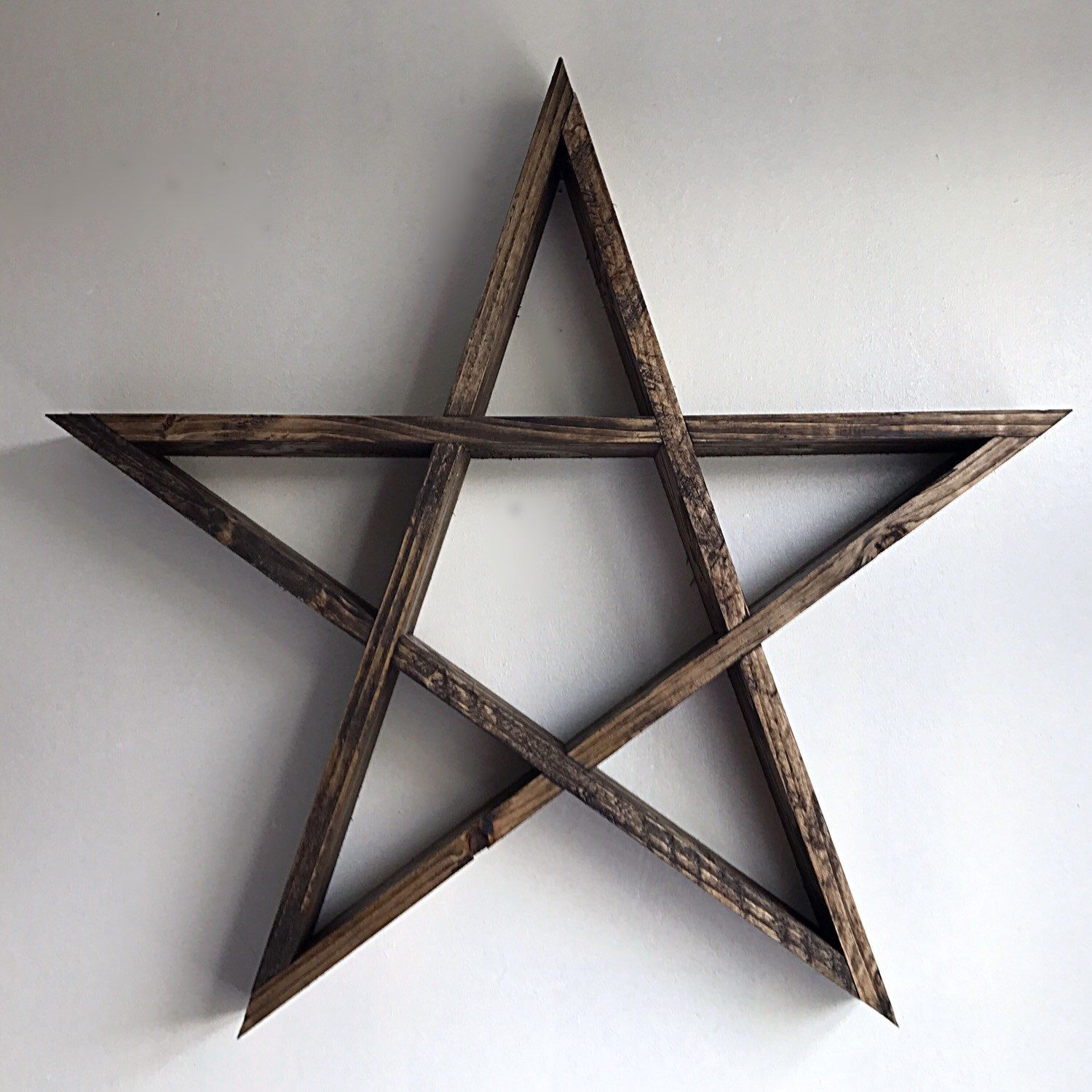Introducing The New Pentagramstar Shelf Handmade With Interlocking Wood #Attentiontodetail