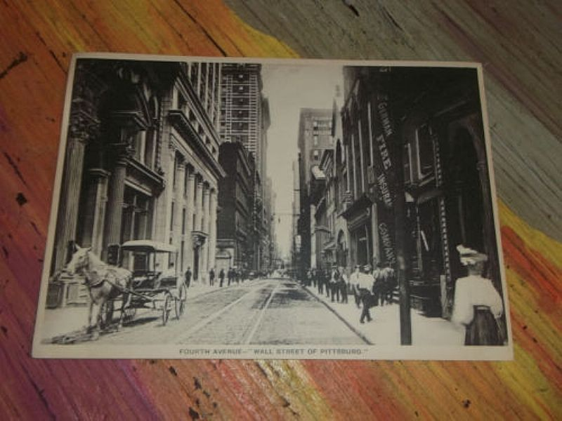 Vintage Print Forth Avenue Pittsburgh Picture Trolley Line Horse ...