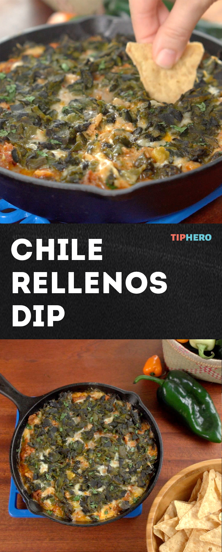 Chile Rellenos Dip Recipe This Spicy Skillet Dip Blends Poblano