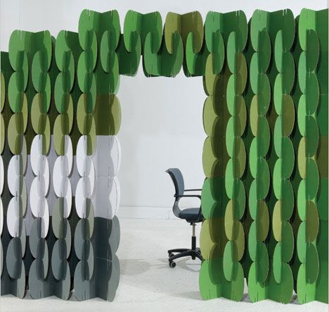Nomad Is A Modular Architectural Room Screen Made Of Recycled - Diy cardboard room divider privacy screen