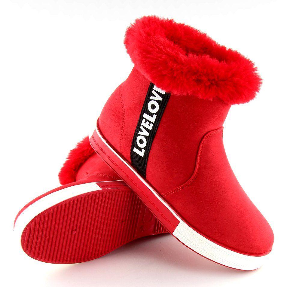 Trampki Za Kostke Ocieplane Czerwone Nb252p Red Boots Ugg Boots Uggs