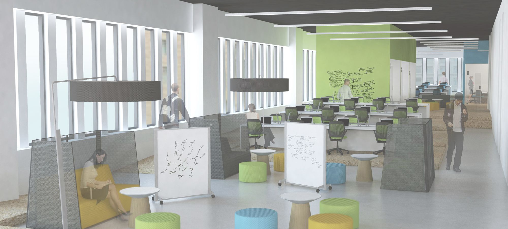 Rolling White Boards Cambridge Innovation Center