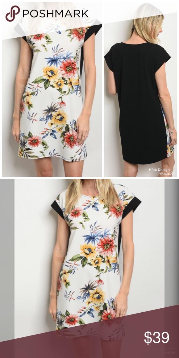 aa584af1096 🥰ARRIVED!! 💕Stunning Floral Color Block Dress! Boutique in 2019 ...