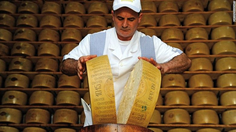 Originating in Modena, the so-called King of Cheese is best enjoyed after at least 24 months of seasoning.