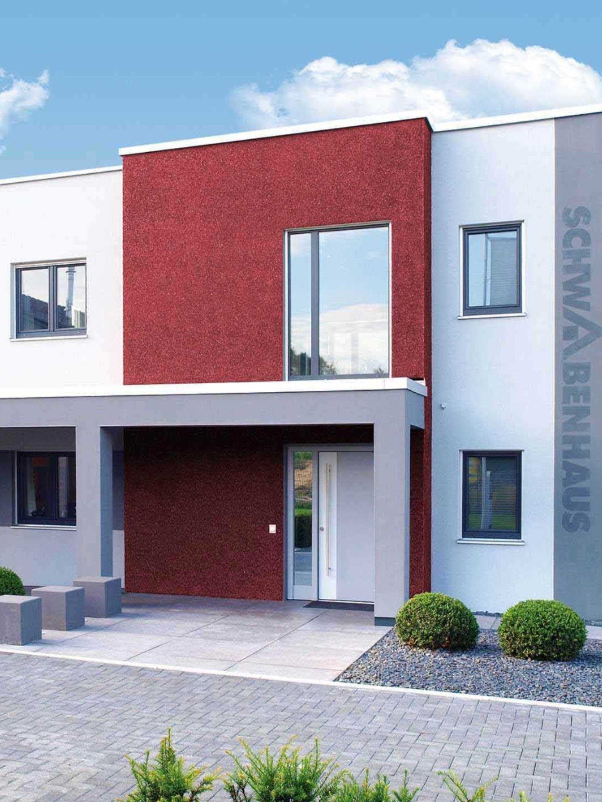 Musterhaus Koln Mit Putzfassade Musterhaus Kubus Haus Schwabenhaus