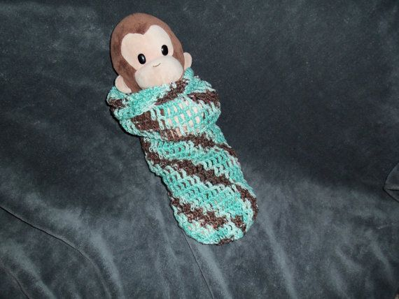 Chocolate Mint Spiral Baby Cocoon
