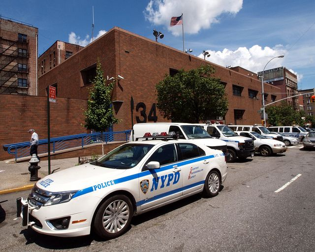 P034 Nypd Police Station Precinct 34 Washington Heights New York City Police Police Station Us Police Car
