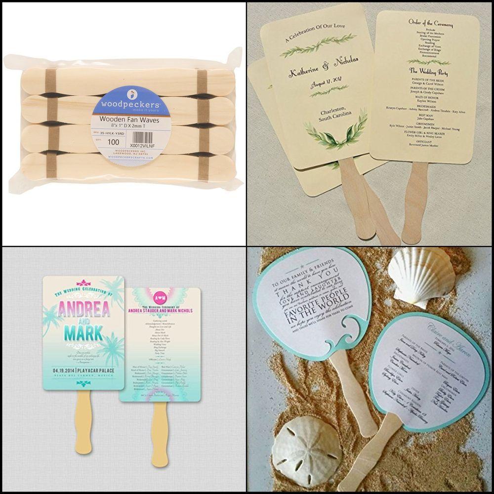 Wavy Design Jumbo Wood Fan Handles Craft Sticks For School Student Art Supplies Woodpeckers Craft Stick Crafts Diy Wedding Program Fans Diy Wedding Programs
