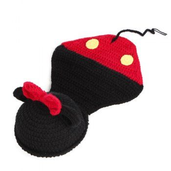 Creative Newborn Baby Bowknot Cartoon Mouse Shape Knitted Blanket Photography