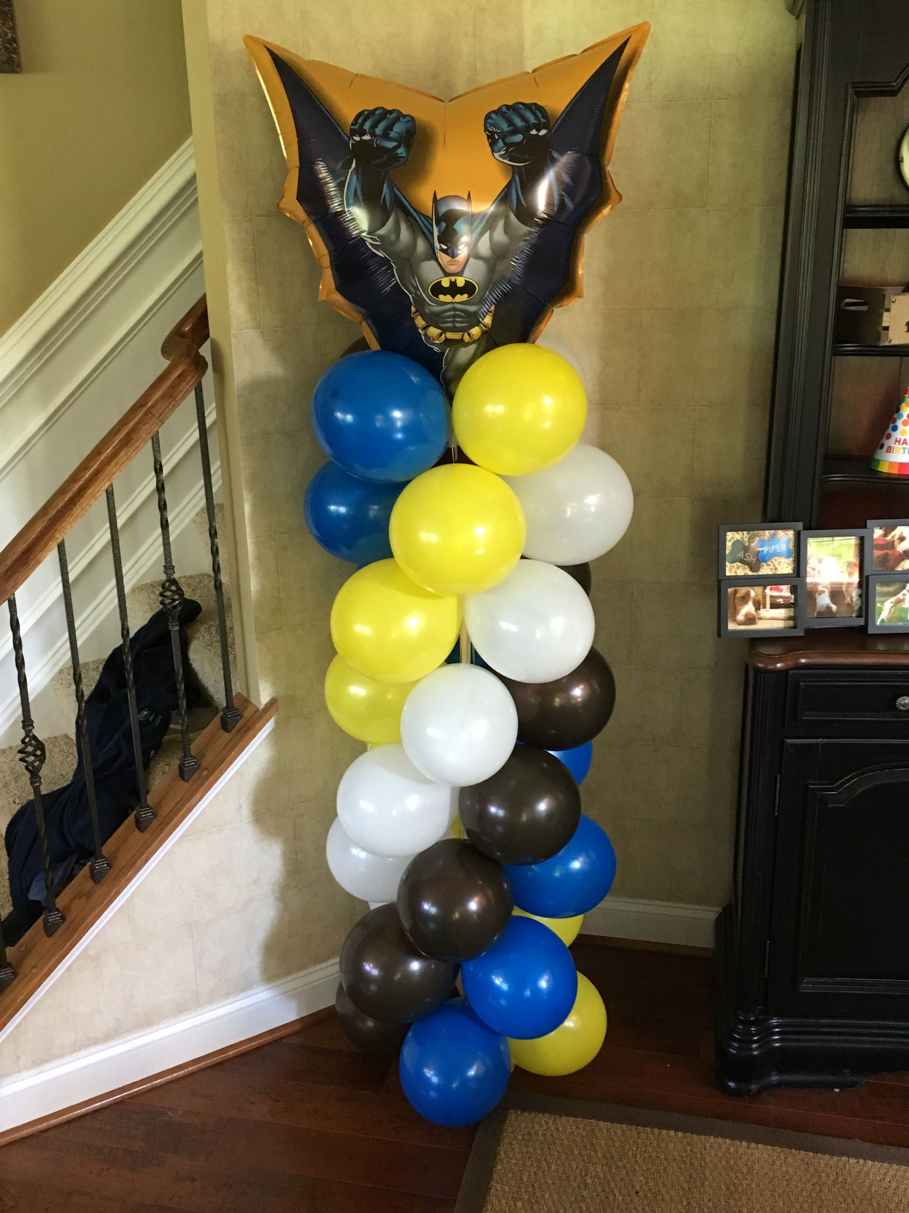 Bat man balloon column Balloon columns, Balloons, Ball