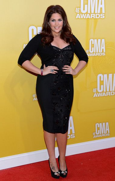Hillary Scott in Black: Hillary Scott of Lady Antebellum dressed her fab curves in a beaded black dress. We love the hint of auburn highlights in her hair, don't you?