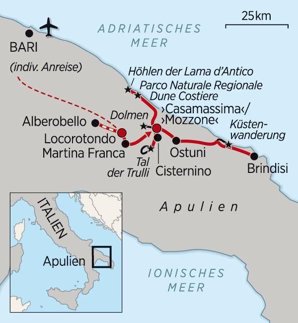 Wanderreisen Apulien Italien Rundreise Und Puglia Italien