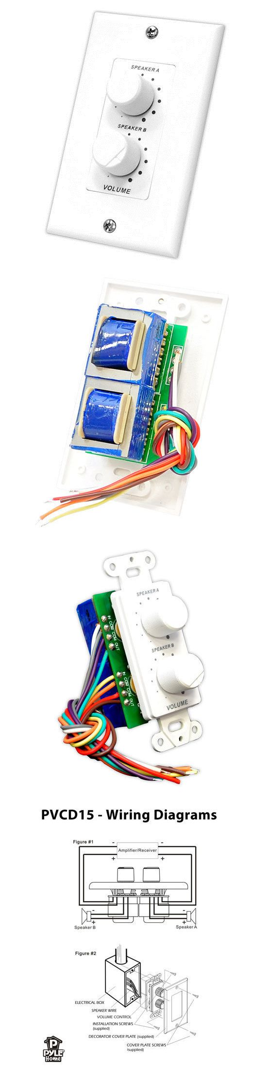 Pyle In Wall Right Left Speaker Dual Knob Separate Volume Sound Wiring Diagram For Control Pvcd15 Other Home Stereo Components 81741 Pinterest Speakers Junction Boxes