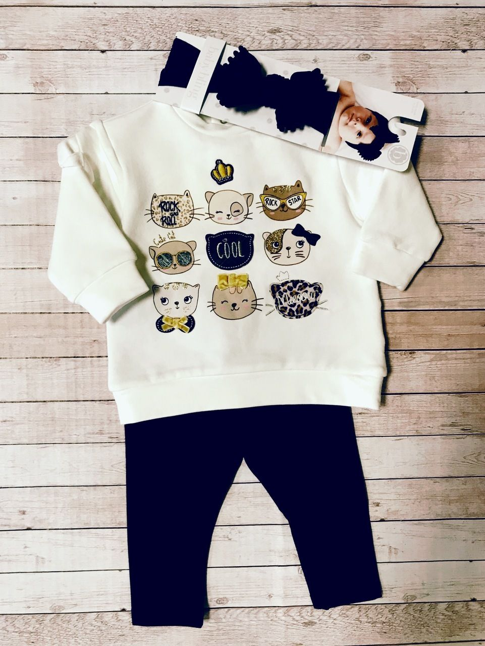 018dae0d40c0f Mayoral Kitten Legging Set (2779) | Baby Girl | Cute baby clothes ...