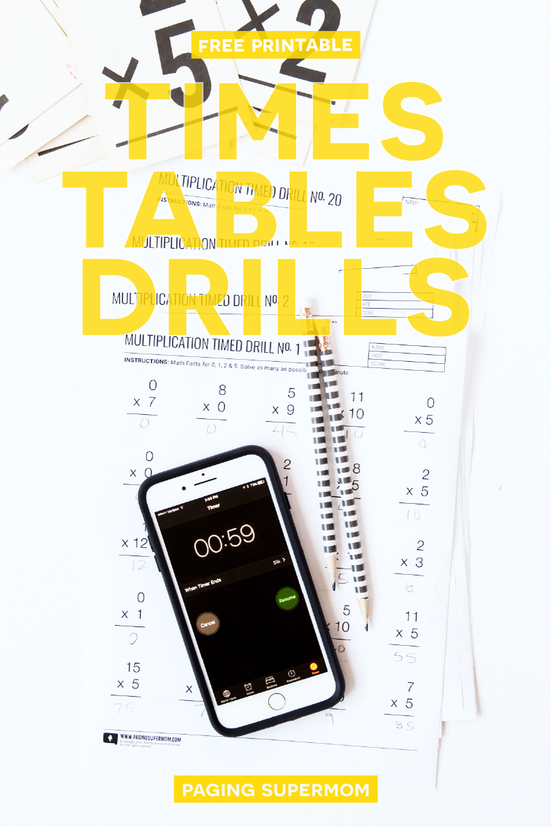 20 FREE Printable Multiplication Worksheets - a month\'s worth of ...