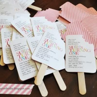 Popsicle Invites Tutorial Homemade Birthday Invitations Diy Kids Ice Cream