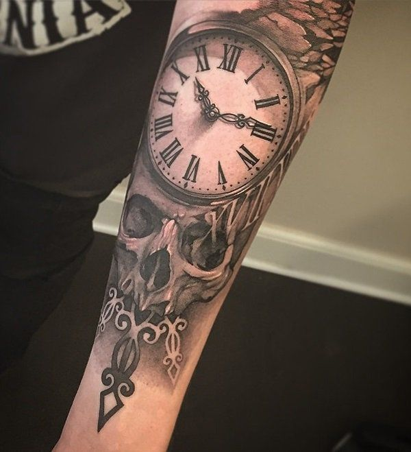 100 Awesome Watch Tattoo Designs | Watch tattoos, Forearm tattoos ...