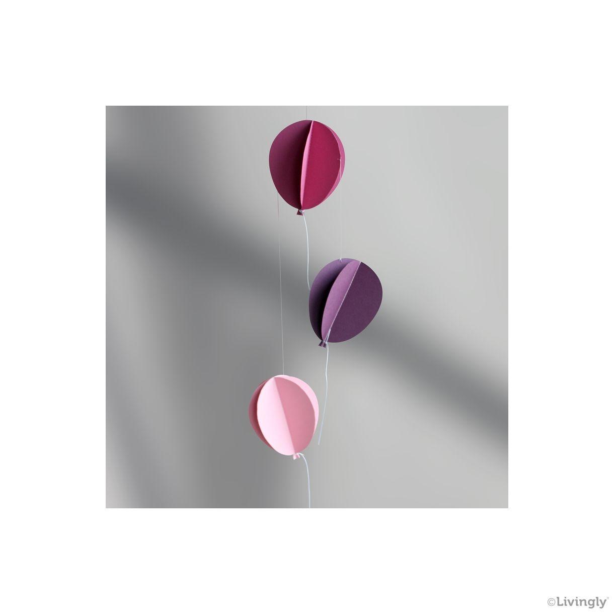 Tivoli Ballon mobile lyserød 40 cm - TIVOLI - Livingly Paper Craft and Mobiles