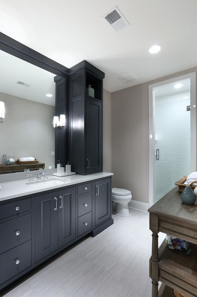 Wall Color For Gray Bathroom Cabinets