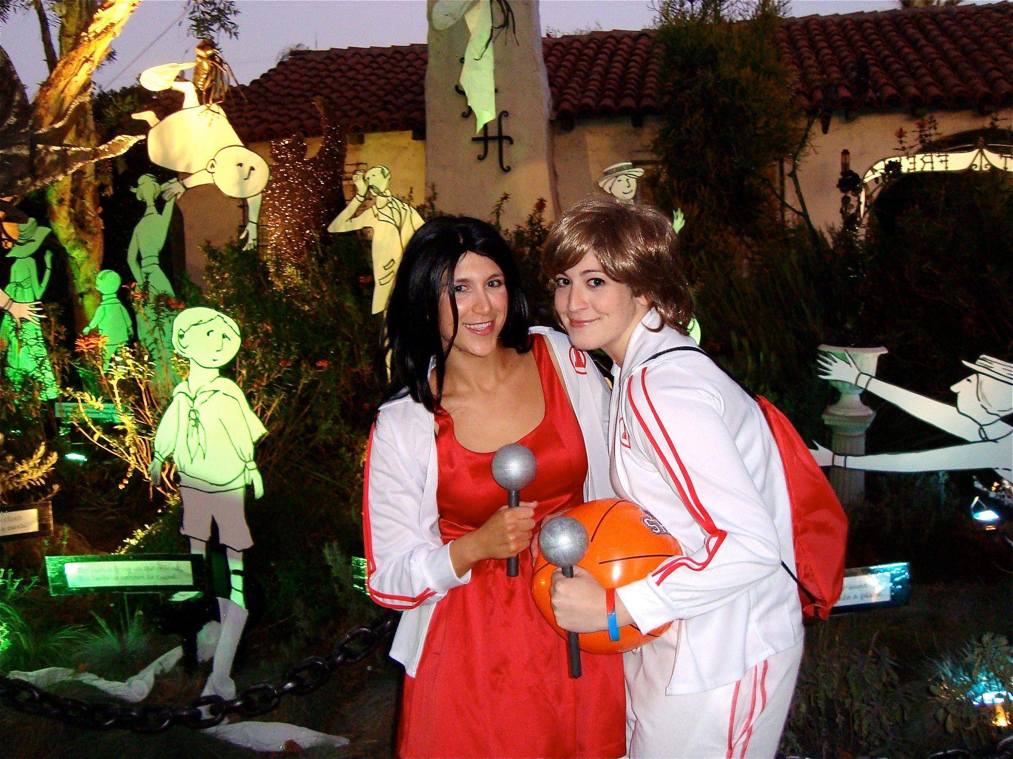 Lesbian Couple Costume Halloween Ali and Olivia as Hugh Hefner and ...
