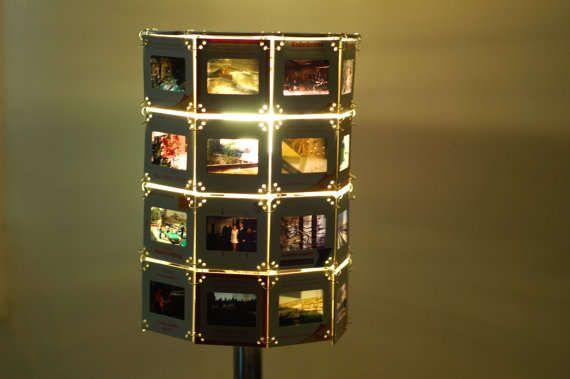 Montage film slide lampshades