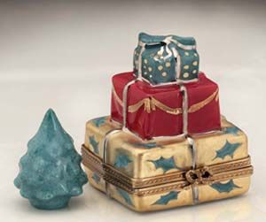 Limoges Holiday Gifts with tree box