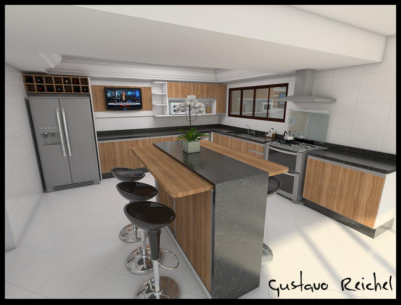 Modelos De Ilhas Para Cozinha Imagem Cozinha Planejada Decoracao