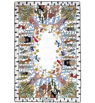 My Living Room Rug Maine House Claire Murray Woodland Hooked Rug