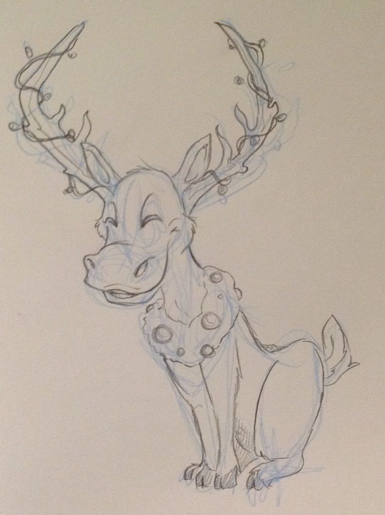 Holiday spirit; click image for more sketches