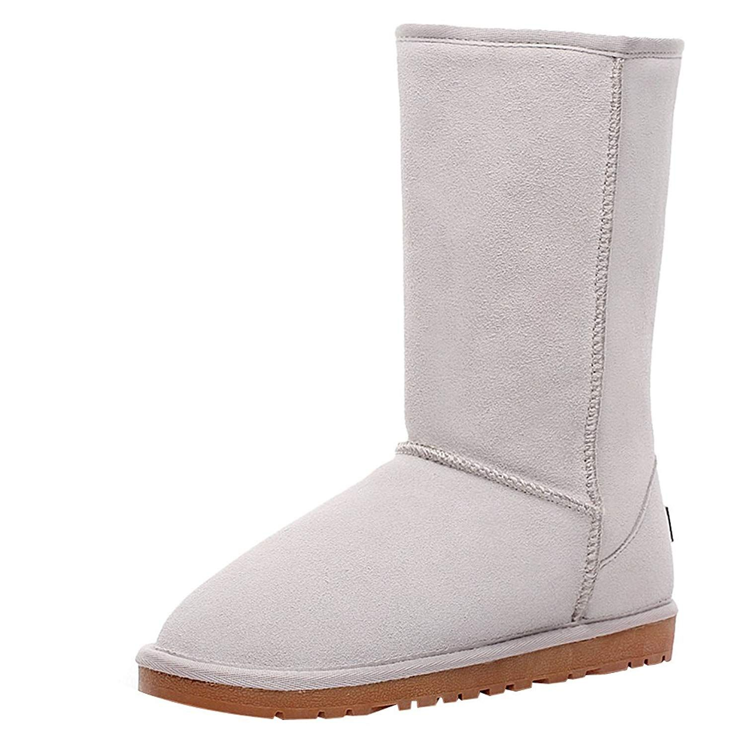 f7aab9b199bd rismart Women Classic Mid-Calf Thermal Suede Snow Boots Thick Faux Fur  Lined Winter Boots     Wonderful of you to drop by to visit the picture.