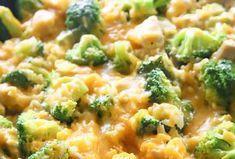 Une recette parfaite de riz au poulet et brocoli avec une fabuleuse sauce très crémeuse!