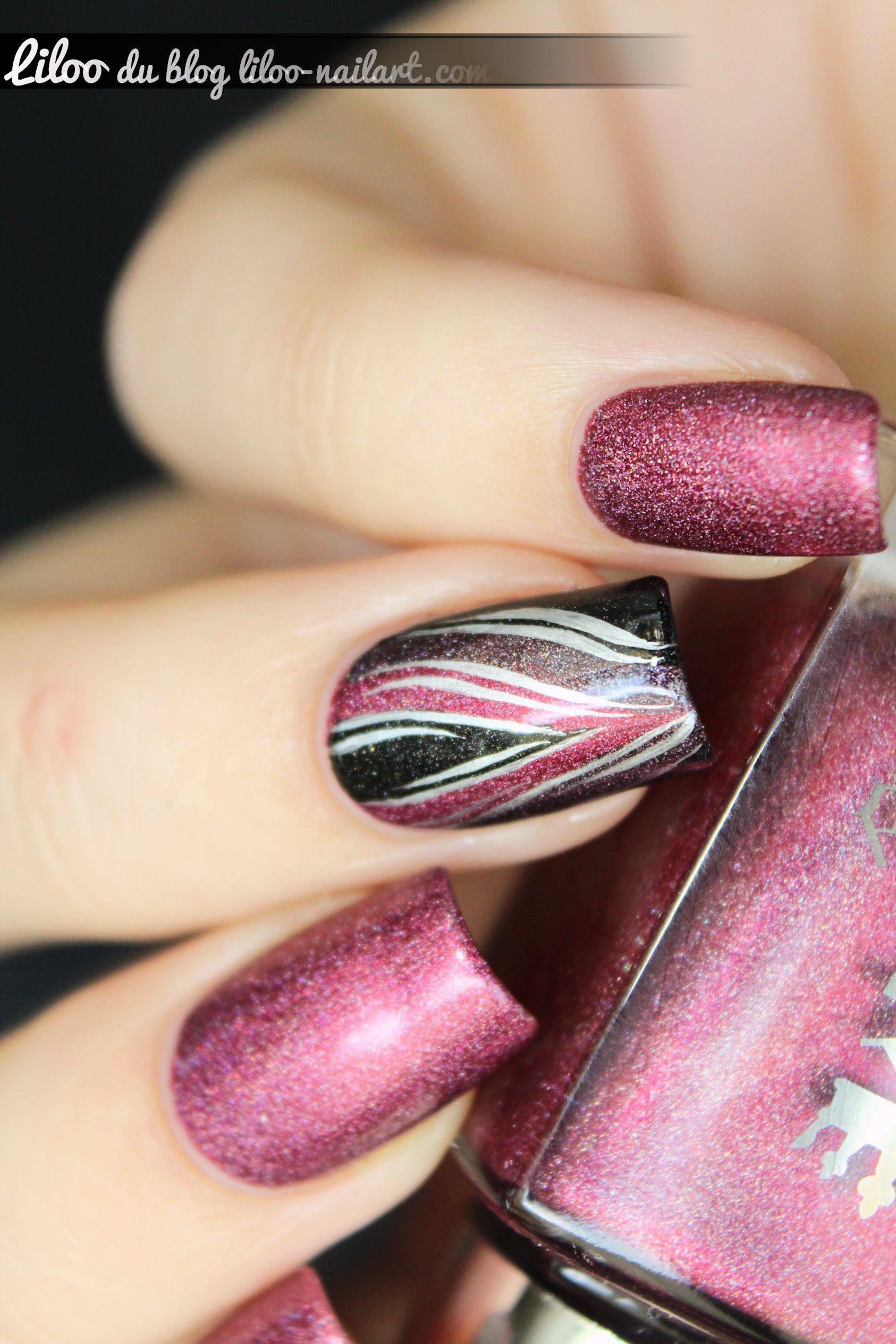 Briar Rose & accent nail // A-England - nailart