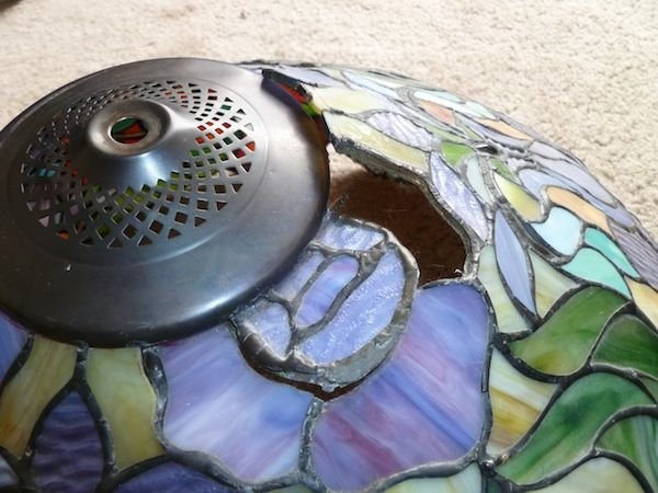 How To Repair A Separated Tiffany Style Lampshade Make