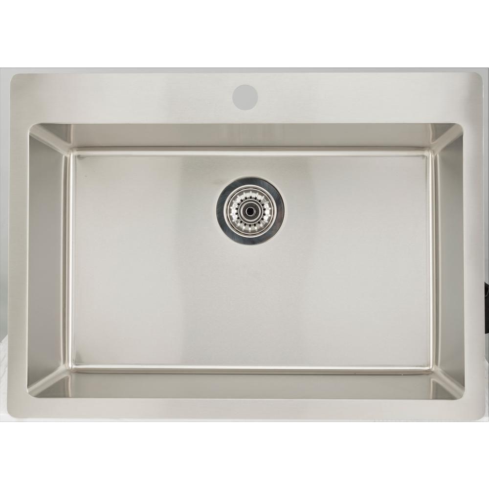 16 Gauge Sinks All In One Drop In Stainless Steel 32 In 1 Hole
